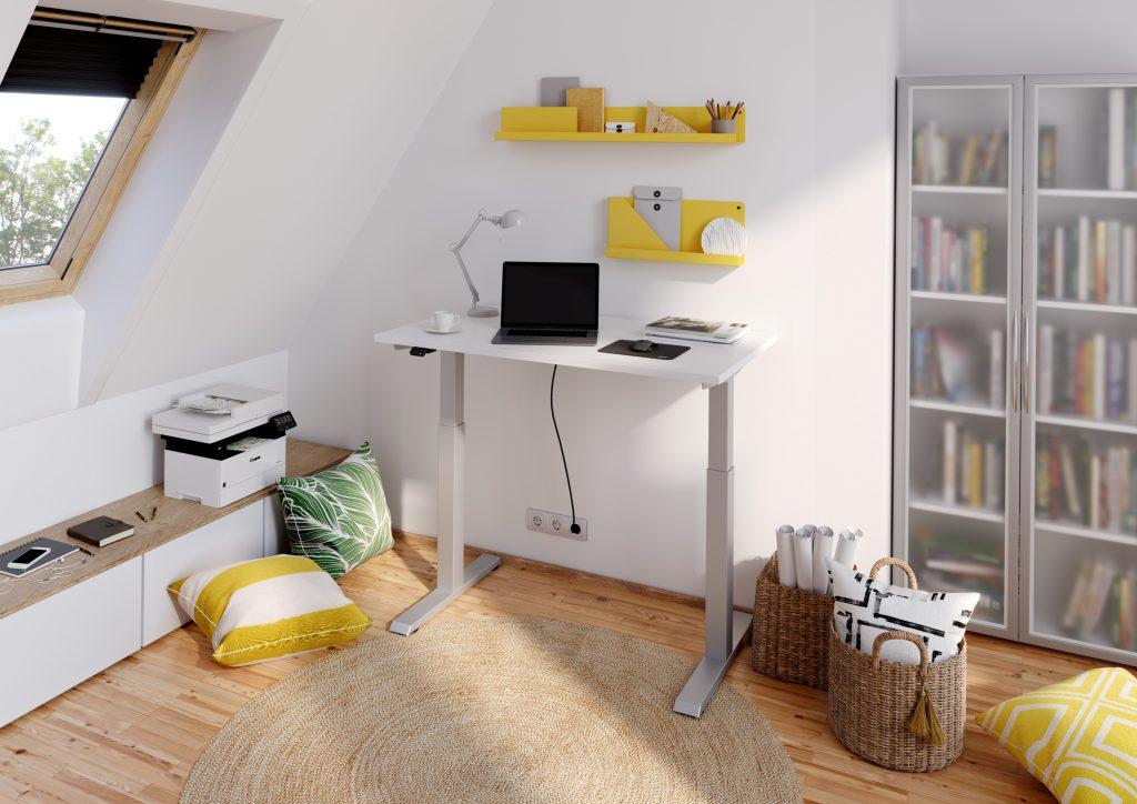 Homeoffice Schreibtisch höhenverstellbar